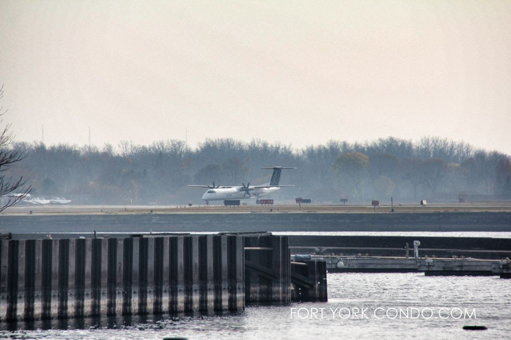 Porter Air taxiing off the runway