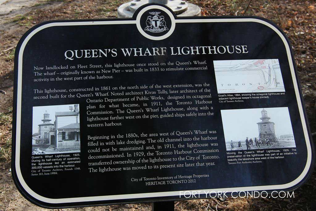 Queens Wharf lighthouse sign
