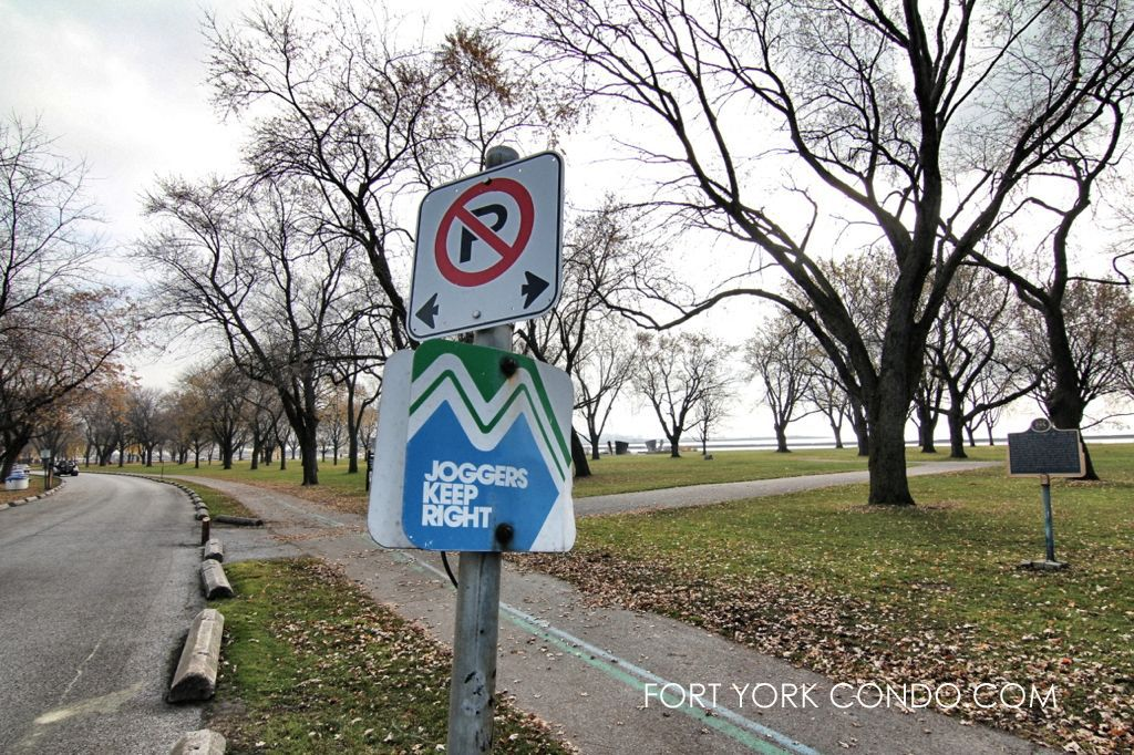 Waterfront Trail Sign for joggers