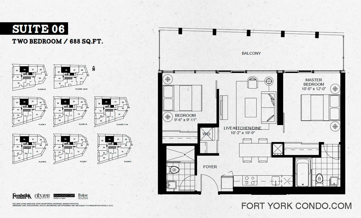 Garrison point condos preconstruction fort york condo for Condominium floor plan