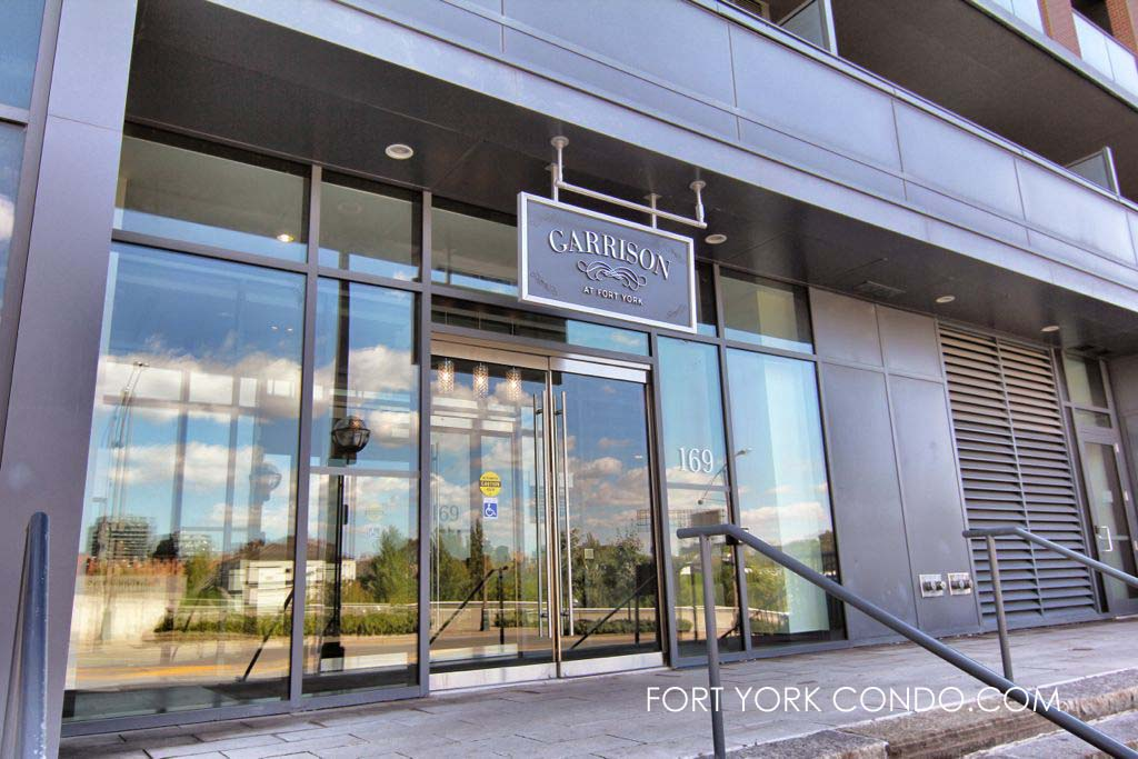 Garrison Condos at 169 Fort York Blvd front entrance