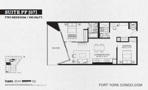 Garrison Point 2 bedroom podium floor plan 868 sq ft