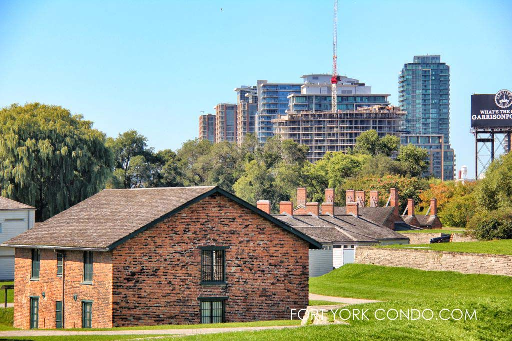 Liberty Village condos seen from historic Fort York